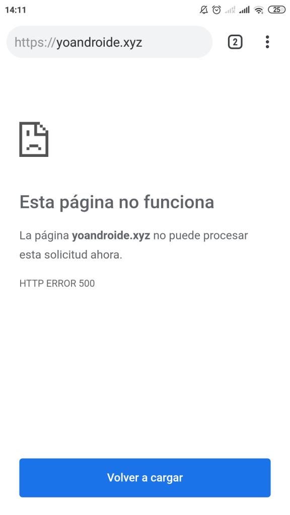 error https 500