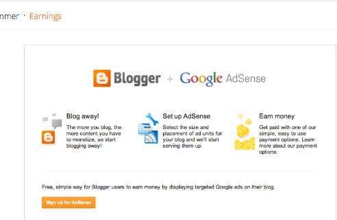 google adsense y blogger ganar dinero