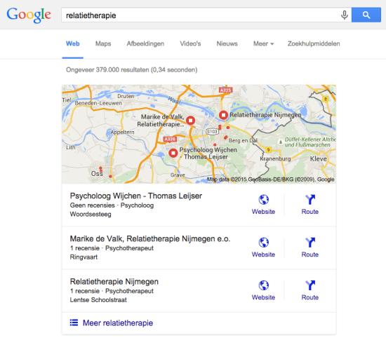 relatietherapie Google zoeken