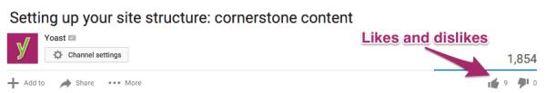 YouTube Analytics: Likes Dislikes example