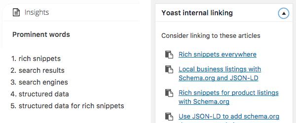 Yoast Insights and Internal Linking