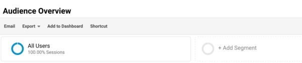 add a segment in Google Analytics