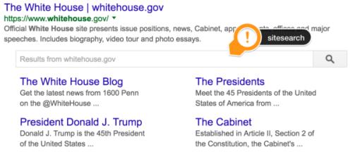 Metadata: Sitesearch