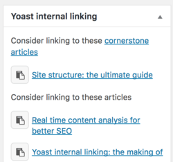 Priority cornerstone articles yoast seo premium