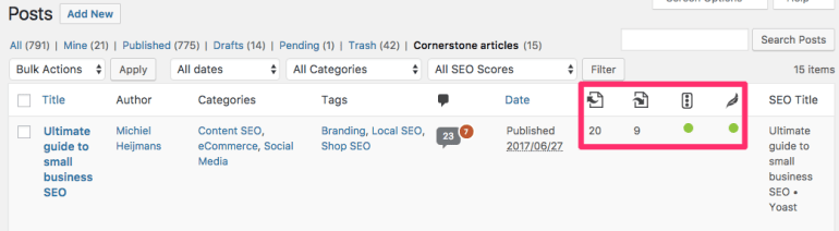 yoast seo 5.0 text link counter