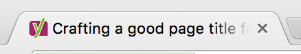 Page title in a tab