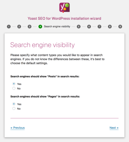 Yoast SEO configuration wizard step 4