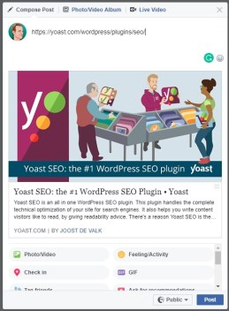 FB plugin Yoast SEO