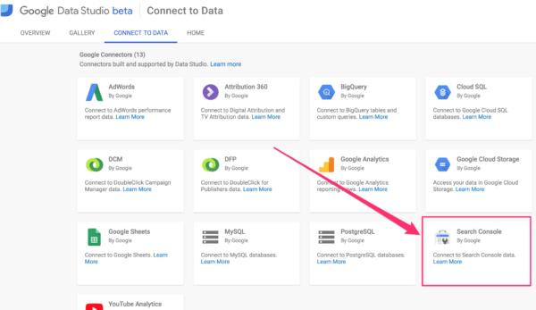 Data Studio Connect to Data
