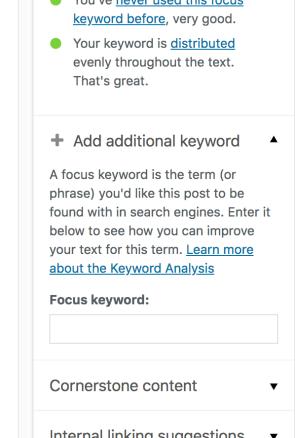 additional keyword