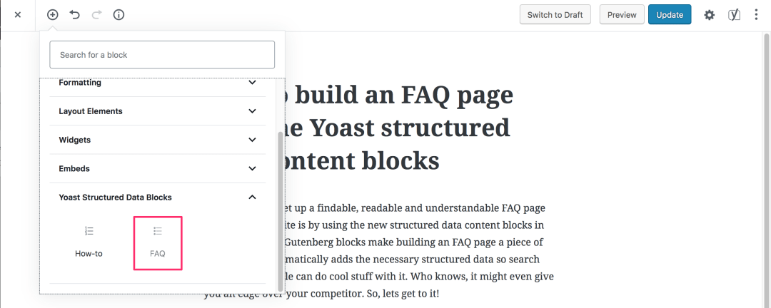 yoast-seo-content-blocks-FAQ How to build an FAQ page with Gutenberg and Yoast SEO