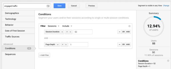 Membangun Segmen Dan Lalu Lintas Dalam Keterlibatan Pada Google Analytics