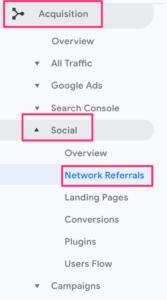 Network referrals to identify social traffic in Google Analytics