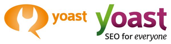 Image of the old Yoast logo and the current Yoast logo.