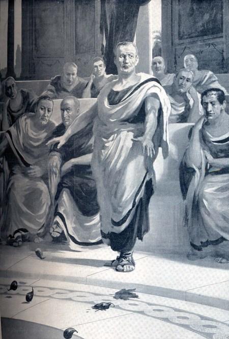 קאטו הזקן משליך תאנים טריות במליאת הסנאט ברומא, אי-שם באמצע המאה השניה לפני הספירה (או כך לפחות סיפר לנו פלוטארכוס), כדי להטעים את קירבת קרתגו לרומא. קרתגו אמנם נהרסה עד היסוד שלוש שנים לאחר מותו, ב-146 לפה״ס.
