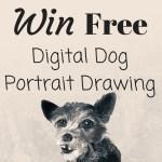 FREE Digital Dog Portrait Drawing