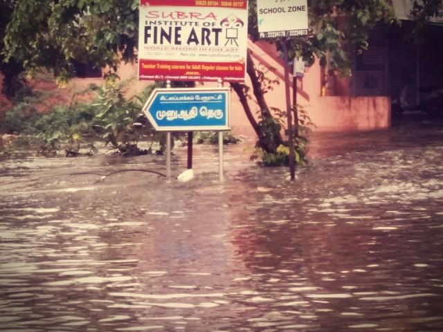 Rain lashes Chitlapakkam