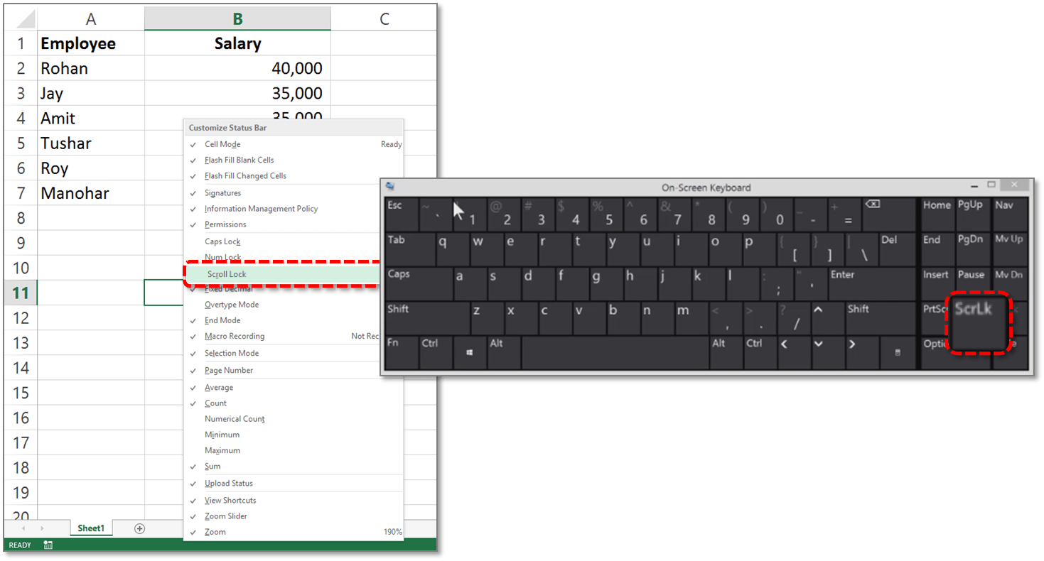 Microsoft Excel Arrow Keys Wont Scroll