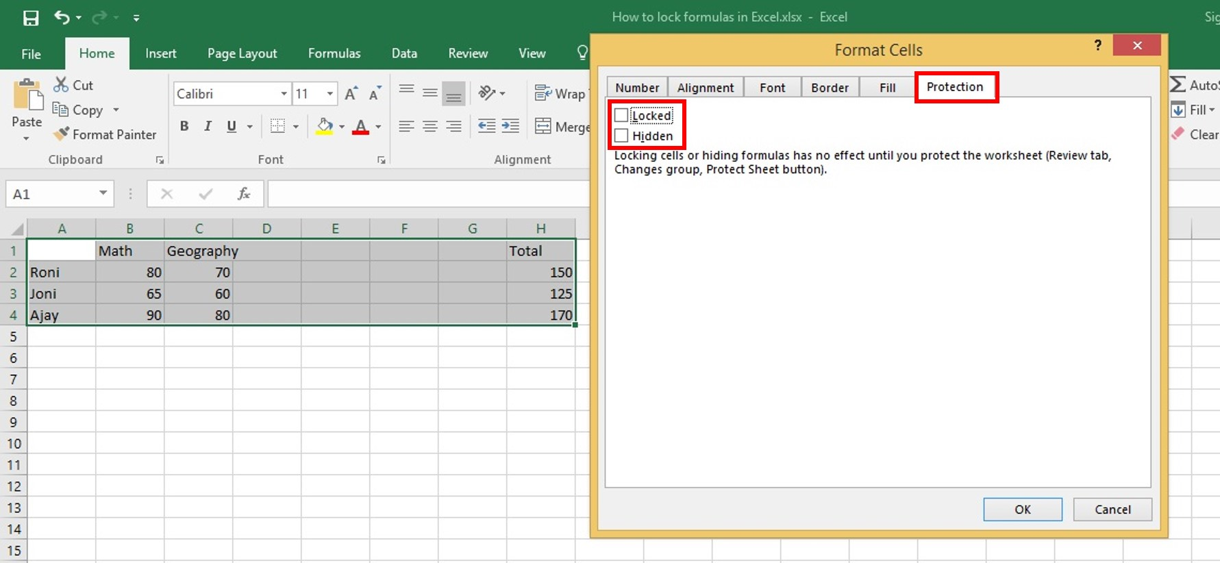 How To Lock Formulas In Excel A Step By Step Guide