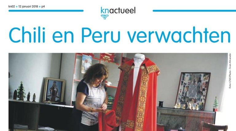 Entrevistado en neerlandés para el Katholiek Nieuwsblad, sobre el Papa en Chile y Perú