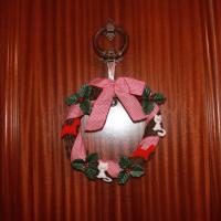 ¡Feliz Navidad! - Una corona navideña para la puerta de casa