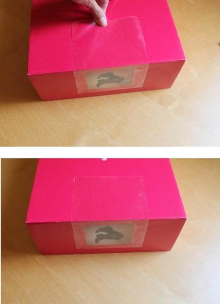 pegar fotografía a caja