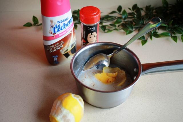 leche condensada y limón