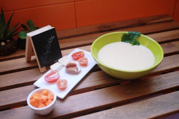 Vichyssoise suave y ligera - Crema de puerros fría en 30 minutos