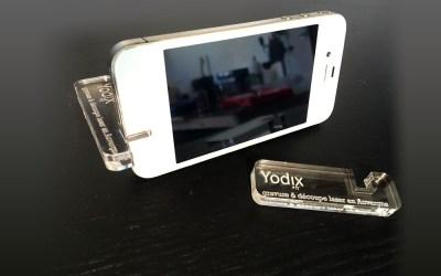 Porte téléphone plexiglass