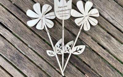 Fleur personnalisée en bois