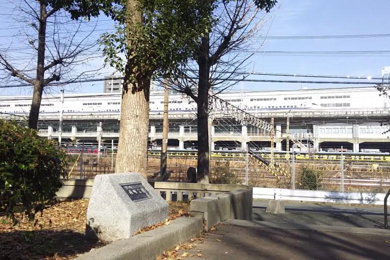 西町公園からJR新幹線 在来線線路