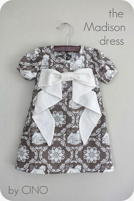 patrón vestido de niña con lazo