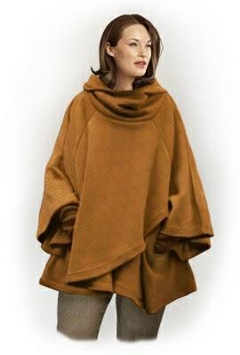 Aquí tienes el patrón gratuito de este poncho manta tan original y calentito.