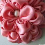 flor de raso vestido de fiesta