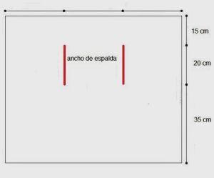 chaleco rectangular