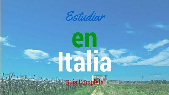 Estudiar en Italia Guia