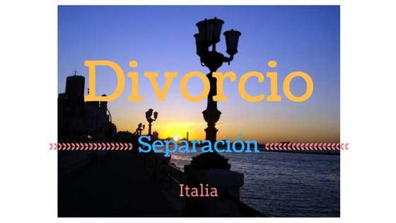 Italia Divorcio y Separación