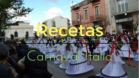 Recetas de Carnaval Italia