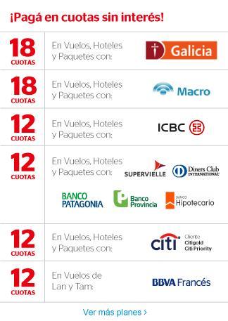 AvanTrip 18 cuotas sin interes Banco Galicia