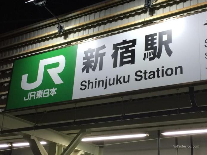 Estación ferroviaria de Shinjuku, Tokyo, Japón