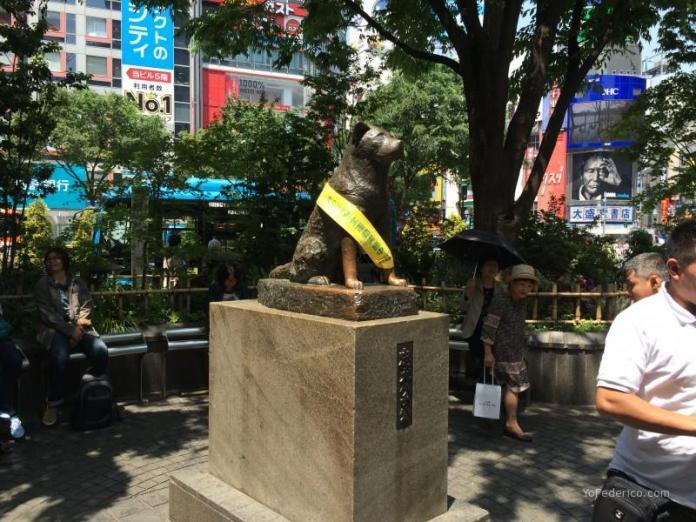 Escultura de Hachiko en Shibuya