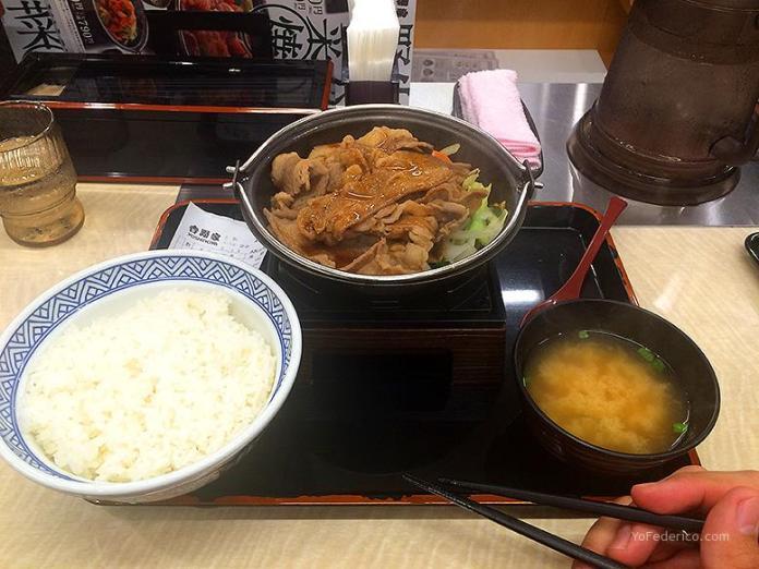 Yoshinoya, Tokyo, Japon -