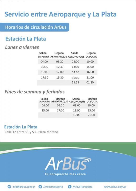 ArBus Servicio entre Aeroparque y La Plata