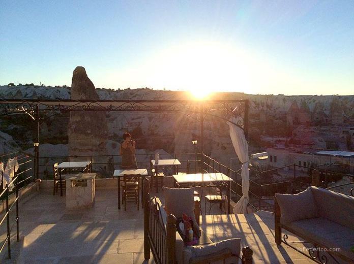 Terraza del Hotel Turquaz, Goreme, Cappadocia, Turquia