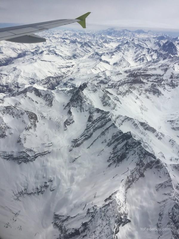 Cordillera de los Andes con SKY Airline