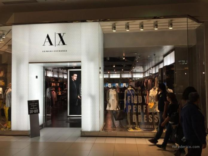 A|X ARMANI EXCHANGE Costanera Center Santiago Chile