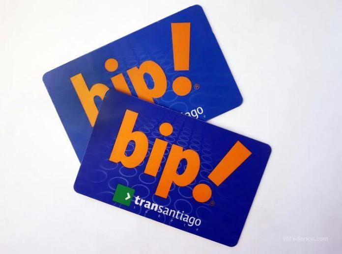 Tarjeta BIP para Metro de Santiago, Chile