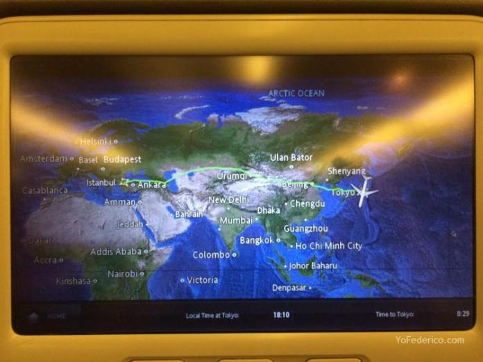 De Estambul a Tokyo en Turkish Airlines 7