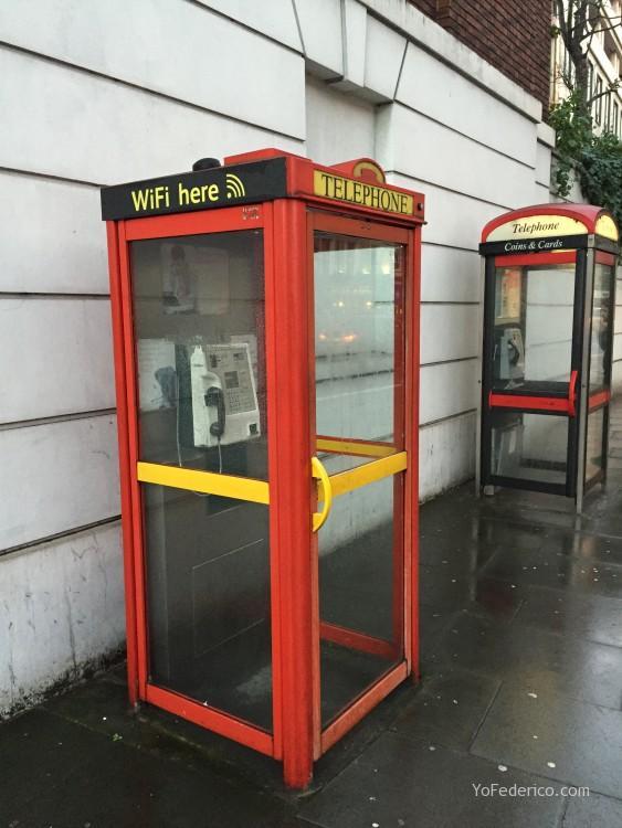 Las cabinas de teléfono londinenses con WiFi gratis! 1