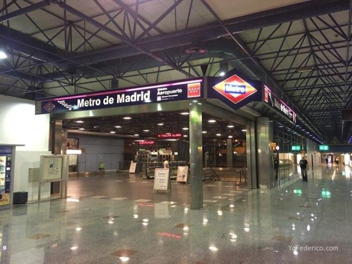 Cómo ir en Metro desde el Aeropuerto de Barajas a Madrid 1
